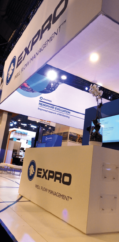 Expro Group Exhibition stand